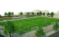 Các sân bóng đều được đầu tư cỏ nhân tạo 100%